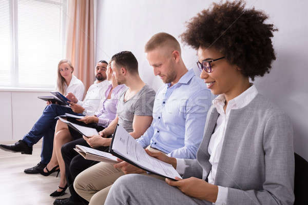 Group Of Diverse People Waiting For Job Interview Stock photo © AndreyPopov
