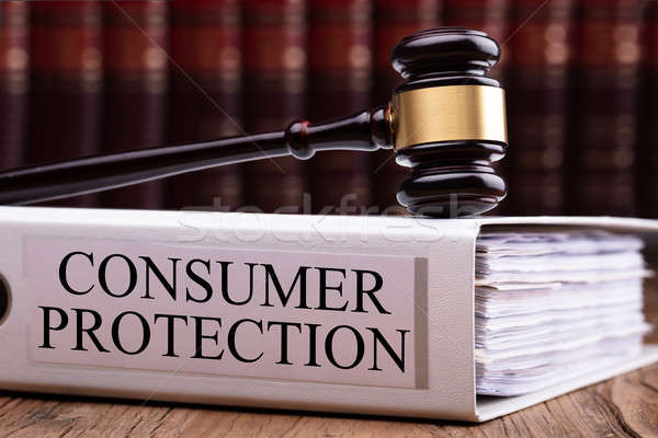 Gavel On Consumer Protection Folder Stock photo © AndreyPopov