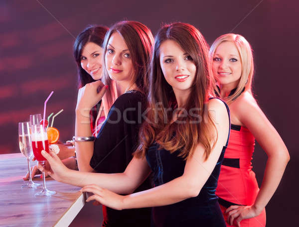 Beautiful women on a night out Stock photo © AndreyPopov