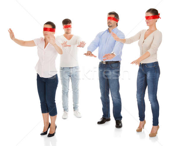 Group Of Disoriented People Stock photo © AndreyPopov