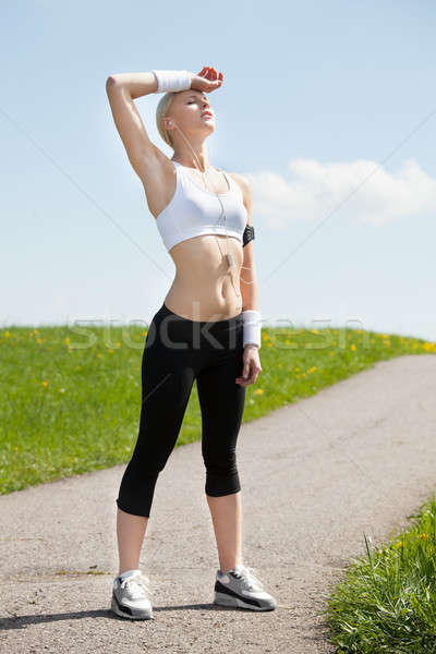 Stock photo: Tired Woman After Jogging
