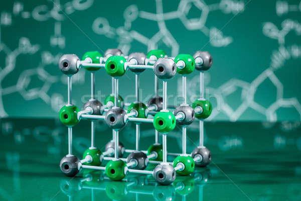 Model moleculair structuur groene technologie Stockfoto © AndreyPopov