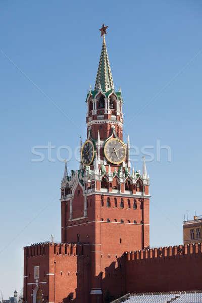 Toren foto Kremlin Moskou Rusland hemel Stockfoto © AndreyPopov
