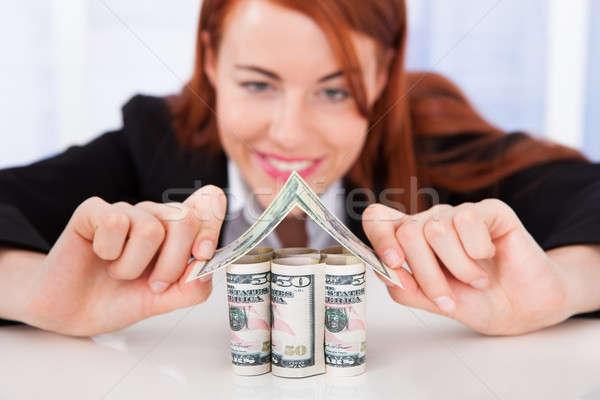 Makelaar huis jonge Stockfoto © AndreyPopov