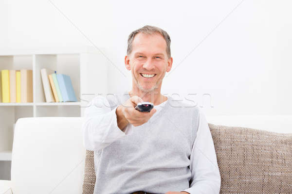 Man Watching Television Stock photo © AndreyPopov