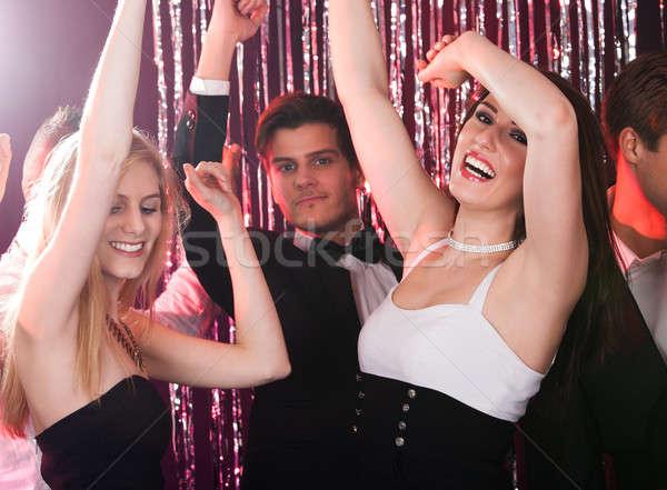 Arkadaşlar dans gece kulübü portre genç Stok fotoğraf © AndreyPopov