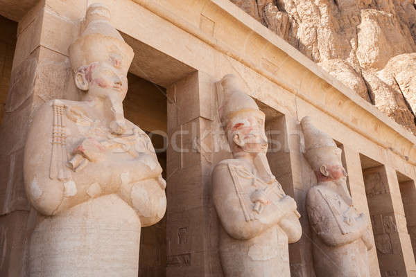 Statues At Deir-al-bahari Temple Stock photo © AndreyPopov