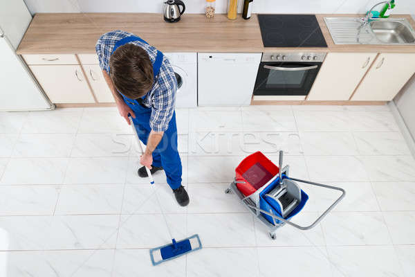 Janitor Cleaning Floor Stock photo © AndreyPopov
