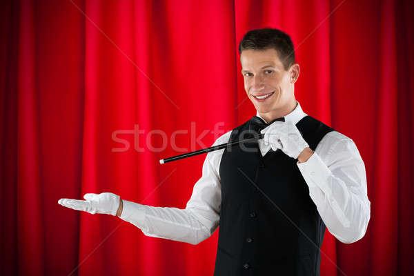 Magician Performing Magic Stock photo © AndreyPopov