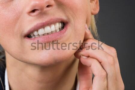 Jeunes femme d'affaires souffrance dents image Photo stock © AndreyPopov