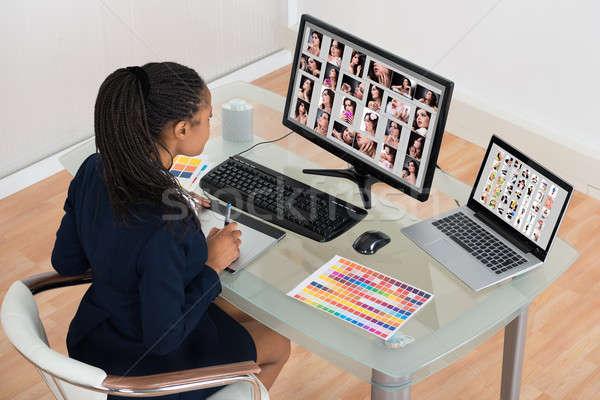 Designer Editing Photos On Computer Stock photo © AndreyPopov