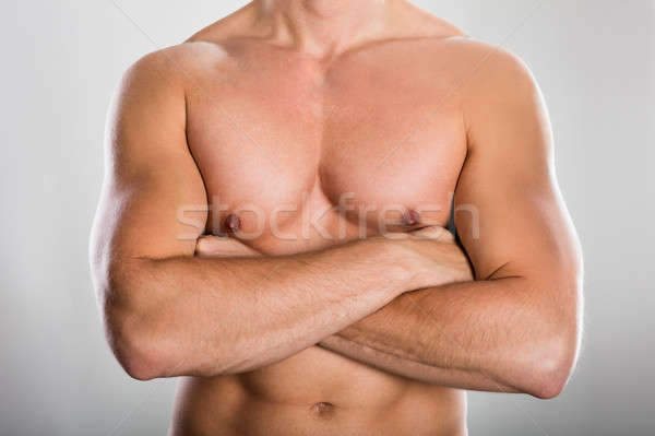 Man With Muscular Build Stock photo © AndreyPopov