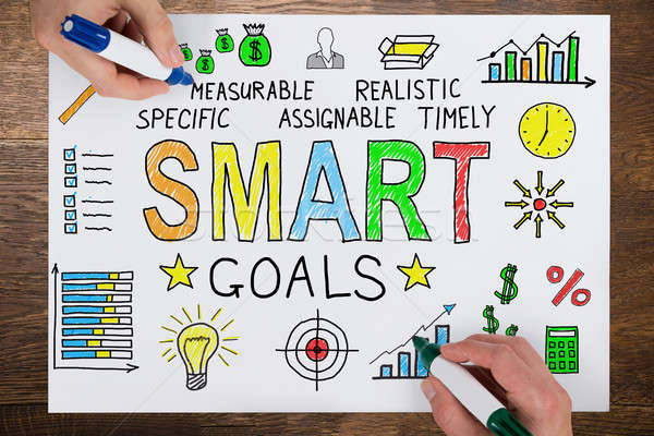 People Drawing Smart Goals Concept On Paper Stock photo © AndreyPopov