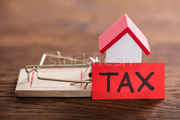 Tax Concept On Wooden Desk Stock photo © AndreyPopov