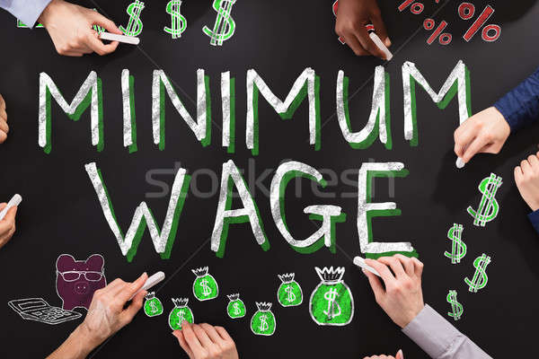 Minimum Wage And Social Security Stock photo © AndreyPopov