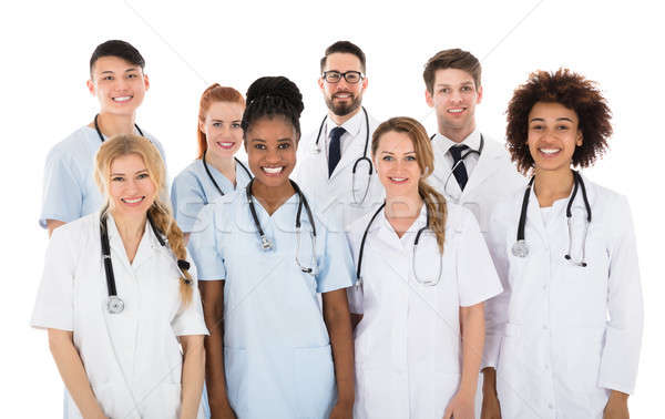 Smiling Multiracial Medical Team Stock photo © AndreyPopov