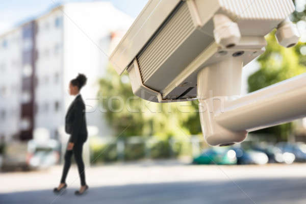 CCTV Monitoring Street Movement Stock photo © AndreyPopov