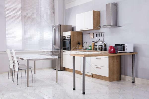 интерьер современных интерьер кухни кухонная техника домой дома Сток-фото © AndreyPopov