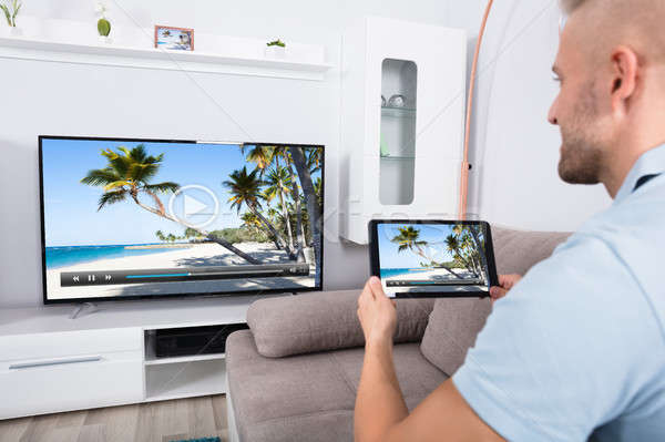 Connecting Television Channel Through Wi-fi Stock photo © AndreyPopov
