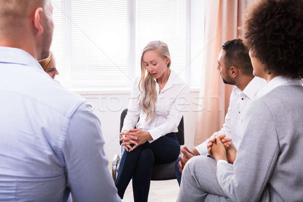 People Listening To Woman Talking About Her Problems Stock photo © AndreyPopov