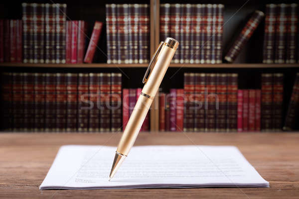 Pen Signing Document Stock photo © AndreyPopov
