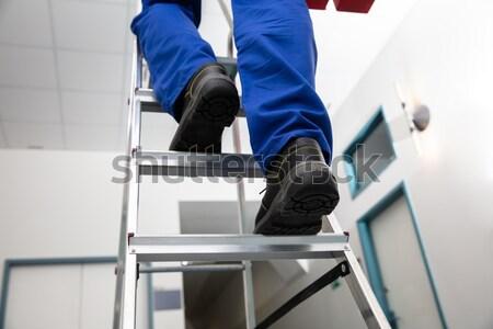 Handyman Climbing Ladder Stock photo © AndreyPopov