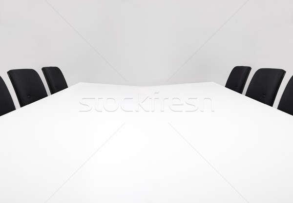 Leer Sitzungssaal modernen weiß bereit Sitzung Stock foto © AndreyPopov