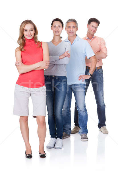 Four business associates in casual clothes Stock photo © AndreyPopov