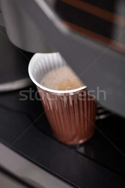 Pouring hot espresso coffee in a glass Stock photo © AndreyPopov