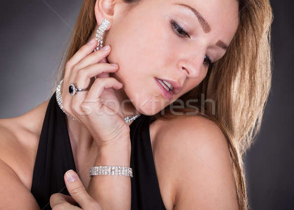 Portrait Of Young Beautiful Woman Isolated Over Colored Background Stock photo © AndreyPopov