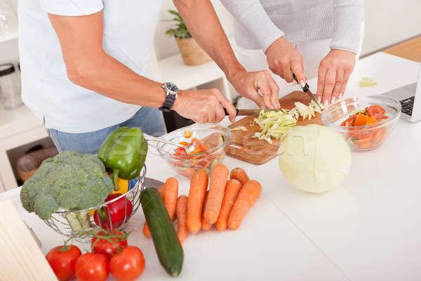 Para posiłek widoku atrakcyjny Zdjęcia stock © AndreyPopov
