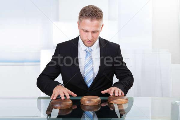 Jeux photo homme jouer jeu affaires Photo stock © AndreyPopov