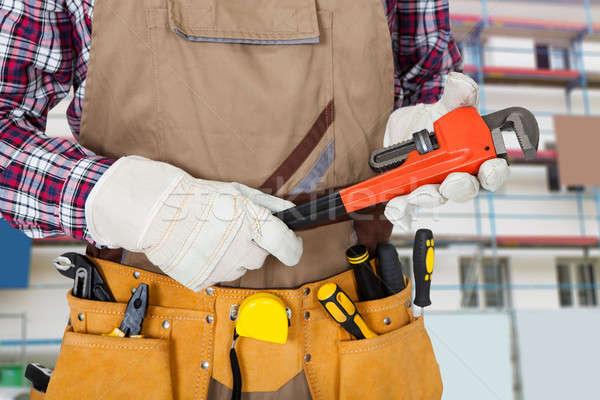 Portrait of construction worker Stock photo © AndreyPopov