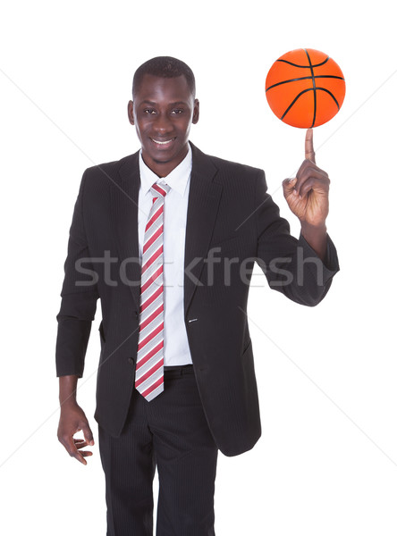 Empresario baloncesto retrato jóvenes África deporte Foto stock © AndreyPopov