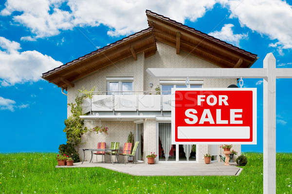 For Sale Sign In Front Of House Stock photo © AndreyPopov