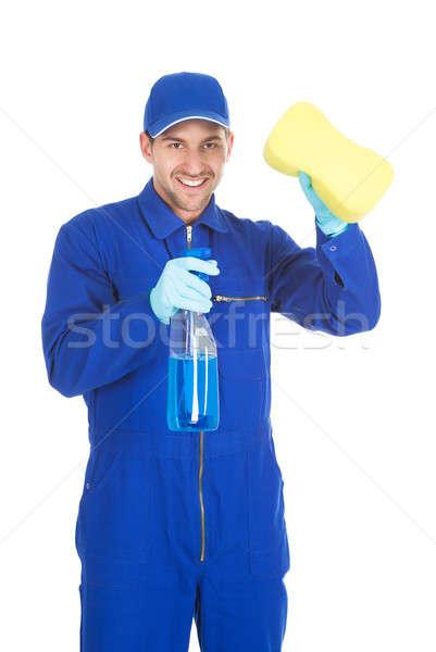 Pulizia spray spugna ritratto Foto d'archivio © AndreyPopov