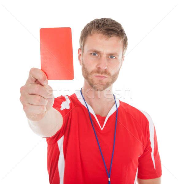 Ritratto arbitro rosso carta Foto d'archivio © AndreyPopov