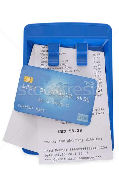 クレジットカード ショッピング 領収書 クローズアップ 白 金融 ストックフォト © AndreyPopov