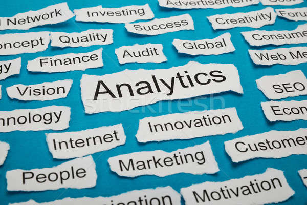 Word Analytics On Piece Of Torn Paper Stock photo © AndreyPopov