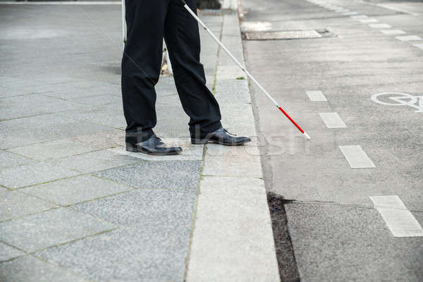 Blind Person Crossing Street Stock photo © AndreyPopov