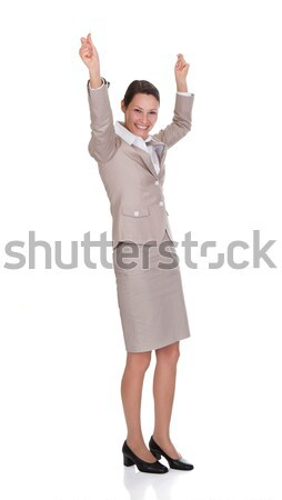 Portrait Of Successful Businesswoman With Arms Raised Stock photo © AndreyPopov