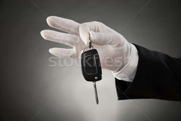 Waiter Hands Holding Car Key Stock photo © AndreyPopov