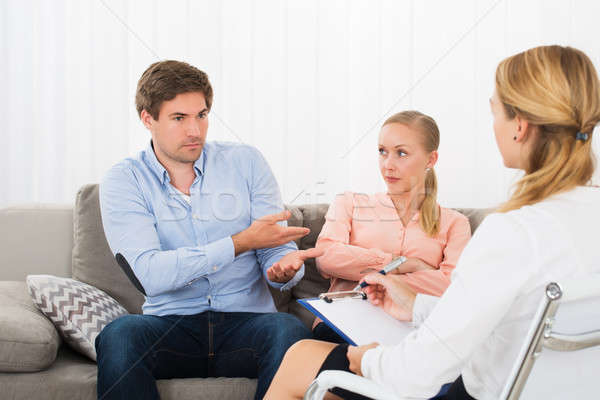 Husband Complaining To Psychologist Stock photo © AndreyPopov