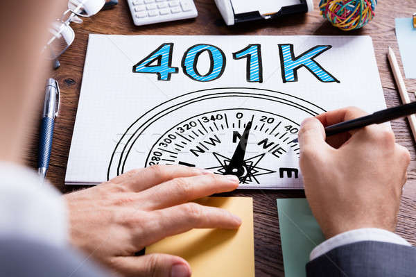 Man Writing 401k Pension Plan Stock photo © AndreyPopov