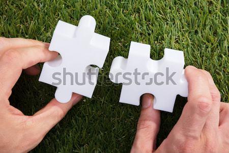 человеческая рука два белый Сток-фото © AndreyPopov