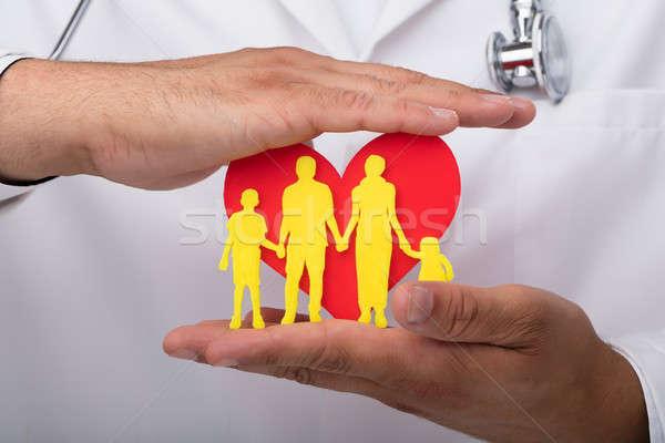 Orvos szív család orvosok kéz piros Stock fotó © AndreyPopov