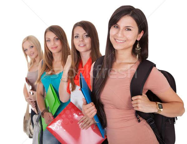 Сток-фото: четыре · женщины · студентов · красивой · молодые