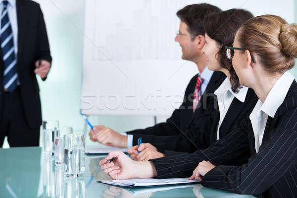 üzlet képzés idős igazgató bemutató kollégák Stock fotó © AndreyPopov