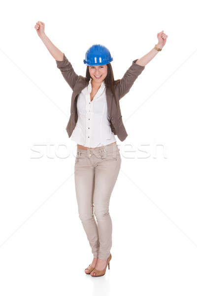 Portrait Of Female Architect With Arms Raised Stock photo © AndreyPopov