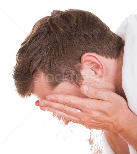 Man Washing His Face Stock photo © AndreyPopov